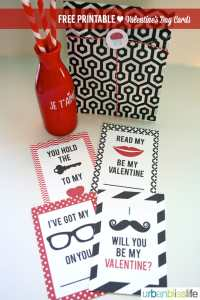 Hipster Valentine's Day Cards Free Printables