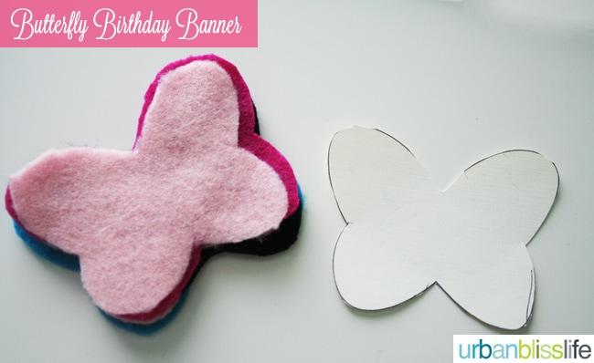 DIY Butterfly Birthday Banner
