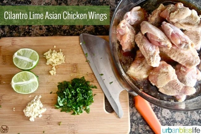 Cilantro Lime Asian Chicken Wings recipe