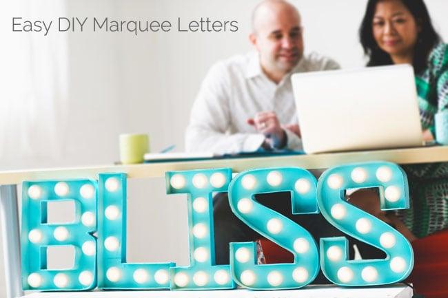 [DIY Bliss] Easy DIY Marquee Letters Tutorial