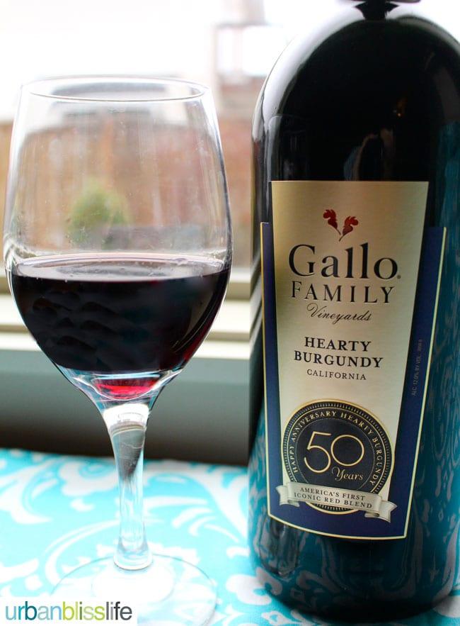 Gallo Hearty Burgundy wine