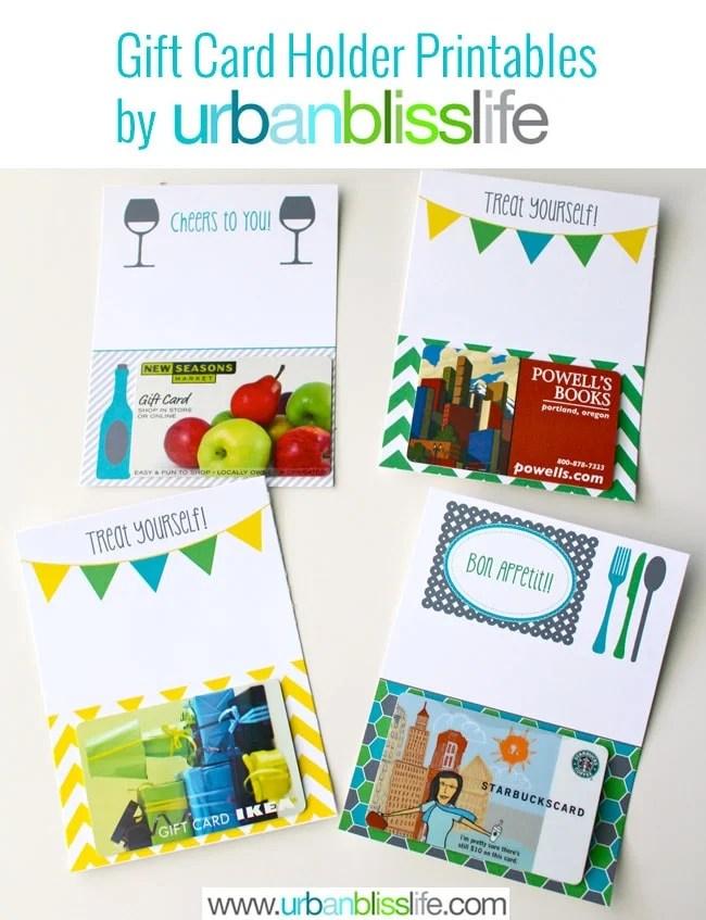 Gift Card Holder Printables