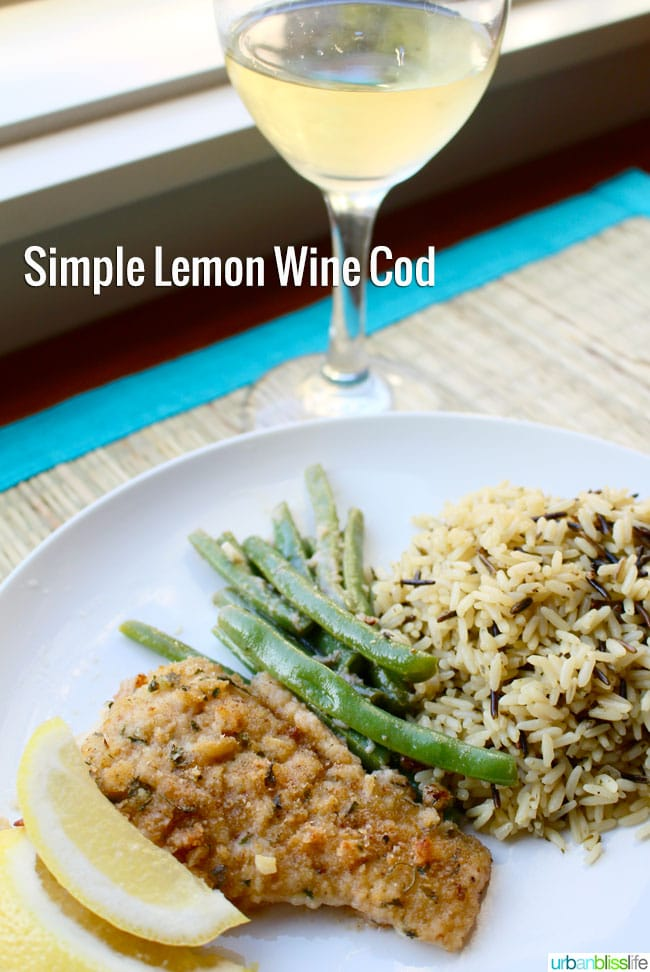 Wine Bliss: Simple Pan-Fried Cod with Lemon and Wine + Snoqualmie Wines
