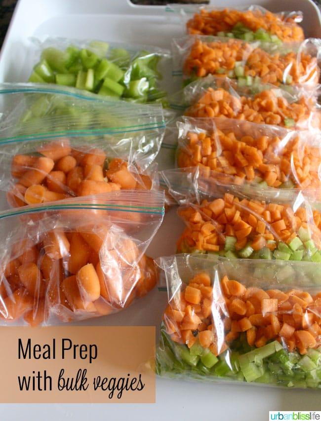 Meal Prep tips using bulk veggies
