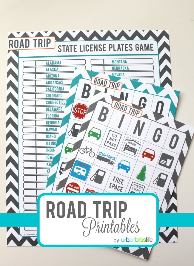 Travel Tuesday: Free Road Trip Printables