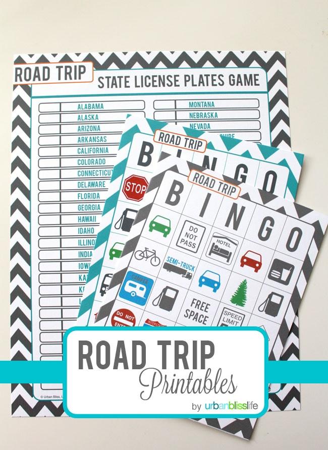Road Trip Bingo Free Printable