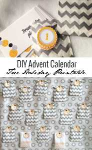 DIY Advent Calendar Free Holiday Printable | UrbanBlissLife.com