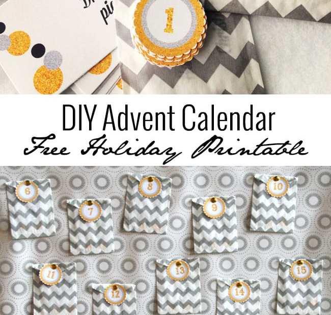 DIY Advent Calendar Free Holiday Printable | UrbanBlissLife.com
