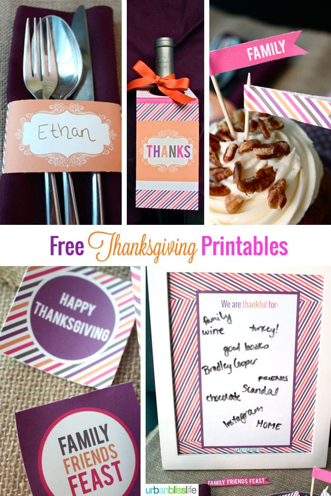 DIY Bliss: Free Thanksgiving Printables
