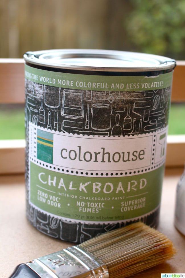 DIY Chalkboard Bar Cart | UrbanBlissLife.com
