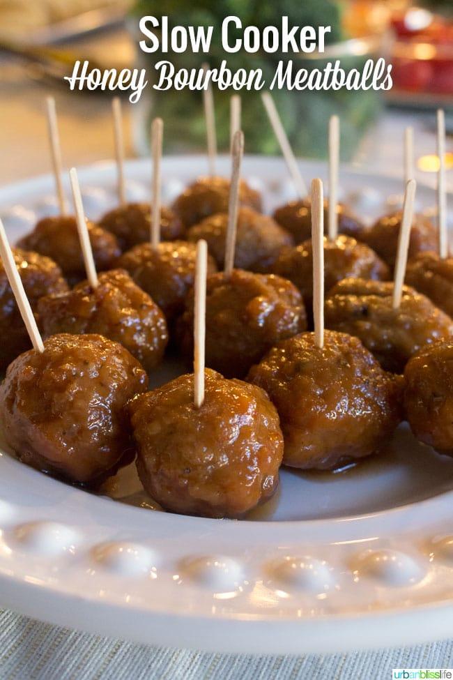 Honey Bourbon Meatballs recipe | UrbanBlissLife.com