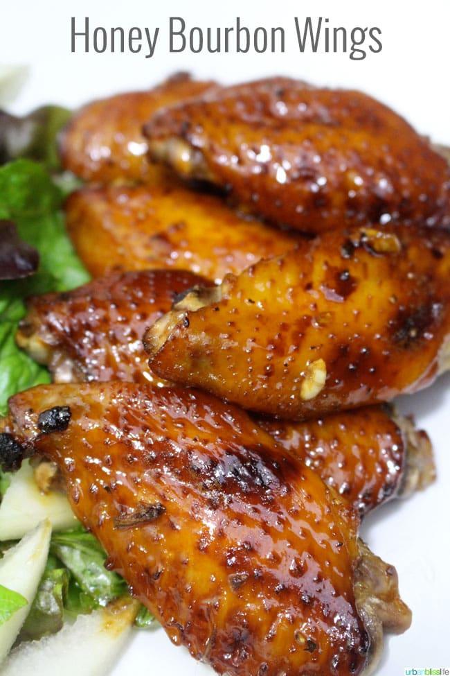Honey Bourbon Wings recipe on UrbanBlissLife.com