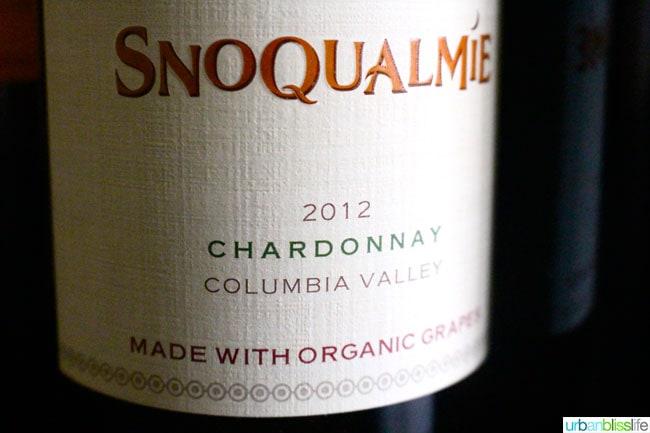 Snoqualmie 2012 Organic Chardonnay