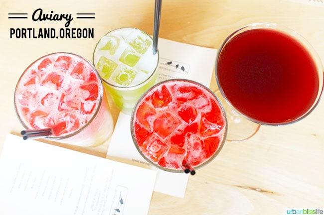 Aviary restaurant Portland Oregon | UrbanBlissLife.com