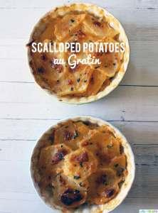 Scalloped Potatoes Au Gratin recipe on UrbanBlissLife.com