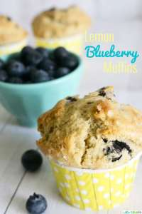 Lemon Blueberry Muffins recipe on UrbanBlissLife.com