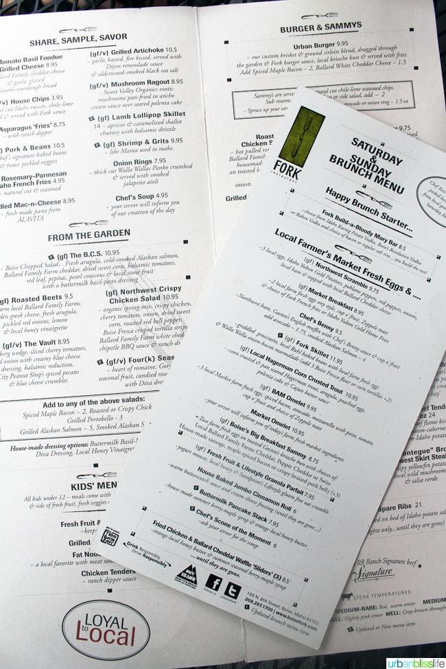 ID Fork Restaurant in Boise, Idaho on UrbanBlissLife.com