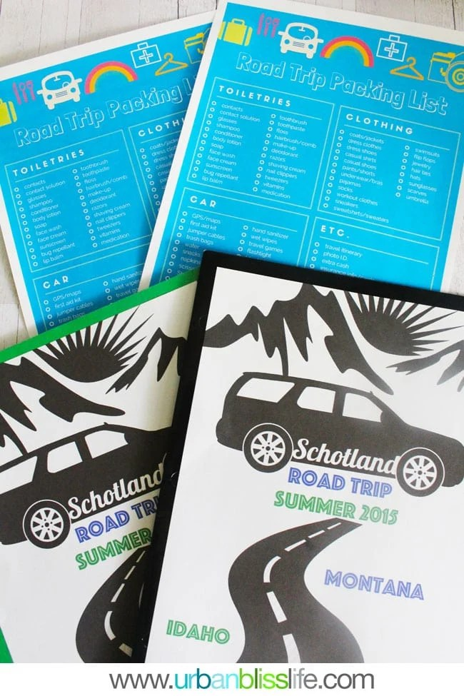 Road Trip Packing Checklist Printables