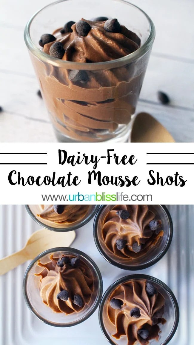 Dairy-Free Chocolate Mousse Shots on UrbanBlissLife.com
