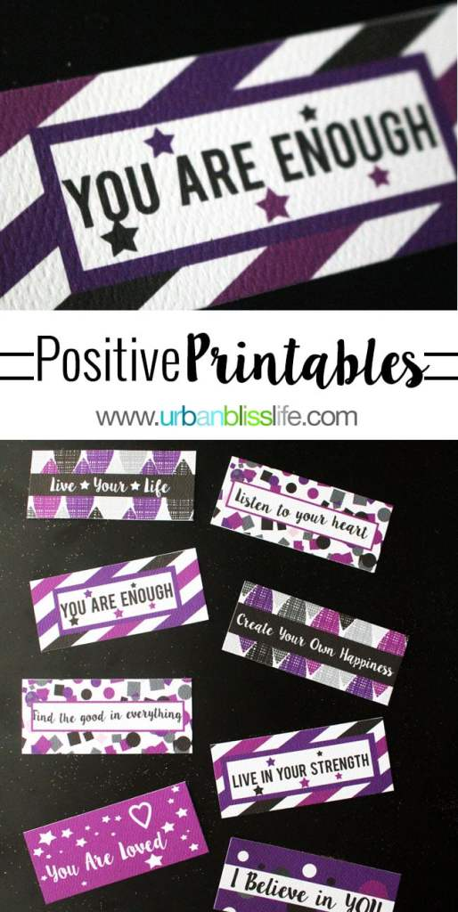 DIY Bliss: Free Positive Printable Cards