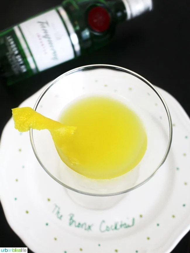 Bronx Cocktail recipe on UrbanBlissLife.com