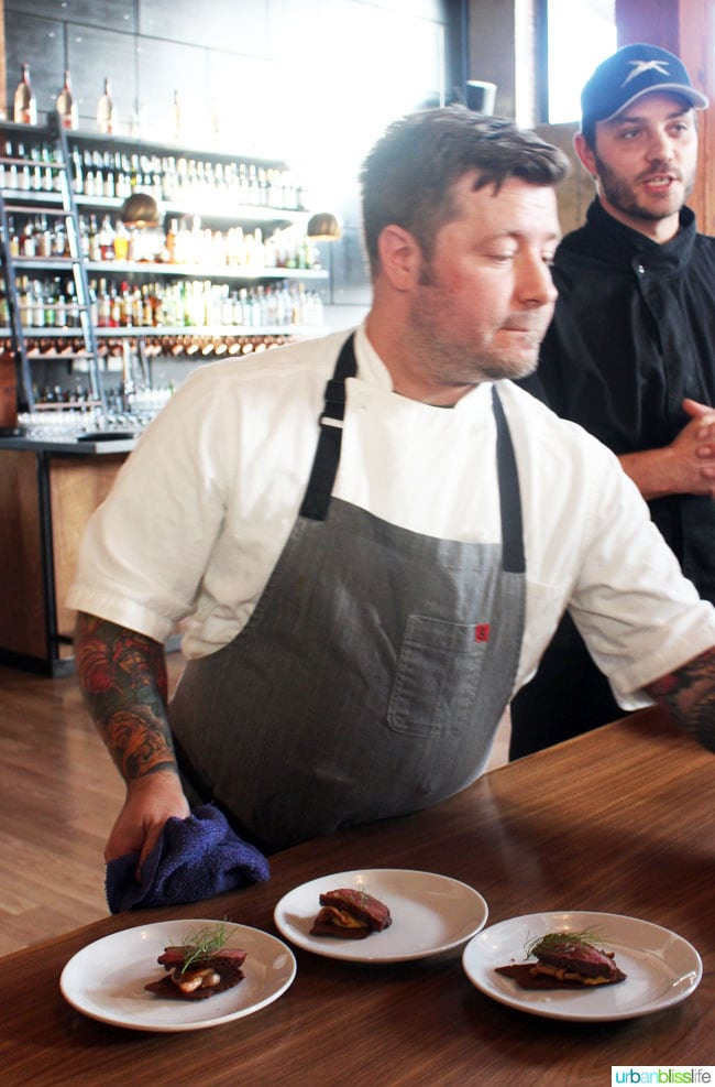 Malbec Mushrooms Dustin Chef Koerner Andina