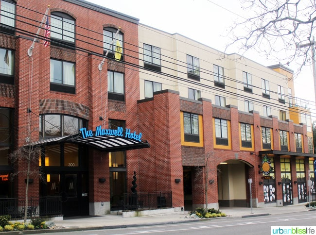 Where to Stay in Seattle, Washington: The Maxwell Hotel, on UrbanBlissLife.com