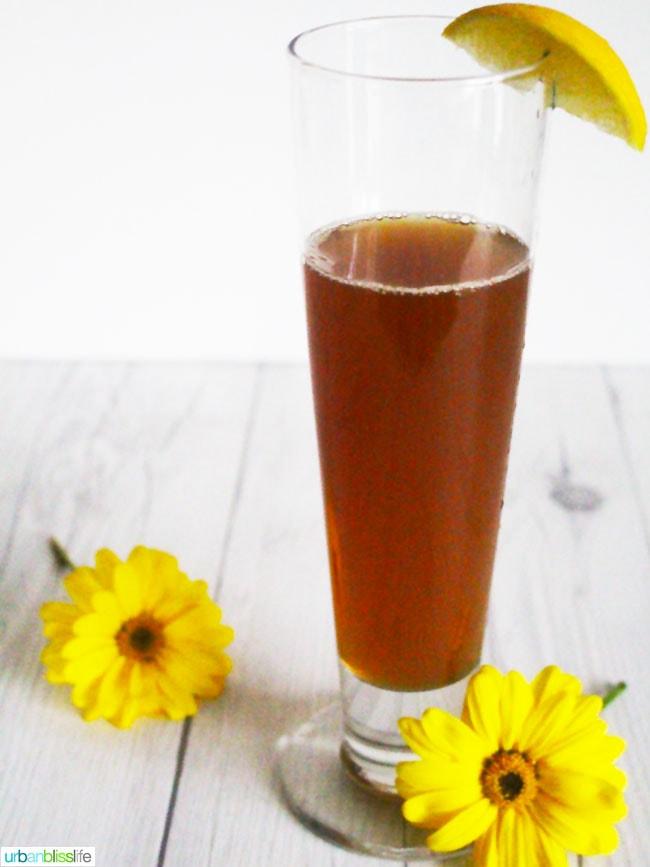 Tea Shandy Cocktail recipe on UrbanBlissLife.com