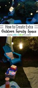 Creating a cozy outdoor summer family space, on UrbanBlissLife.com