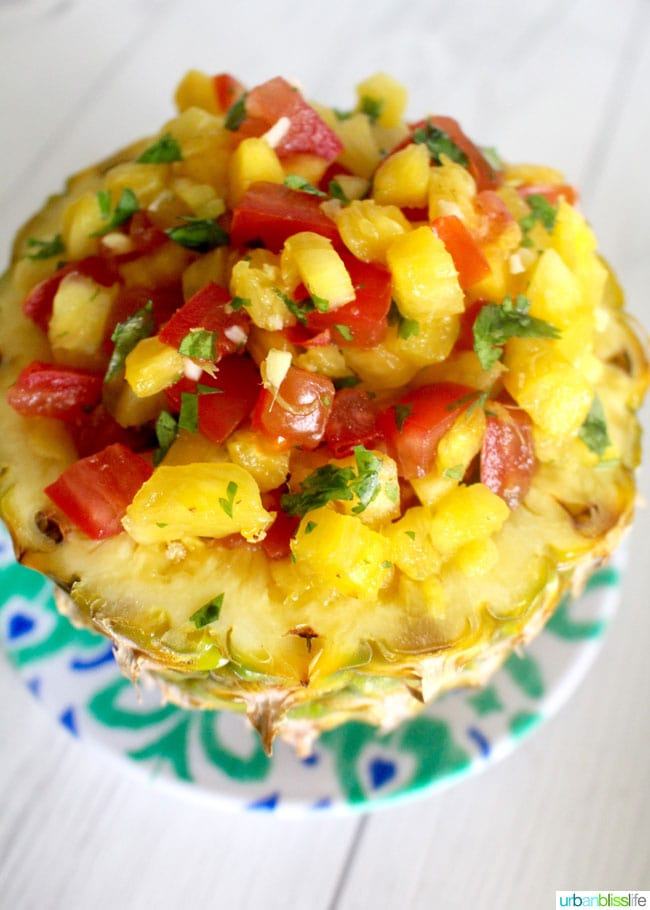 Grilled Pineapple Salsa recipe on UrbanBlissLife.com