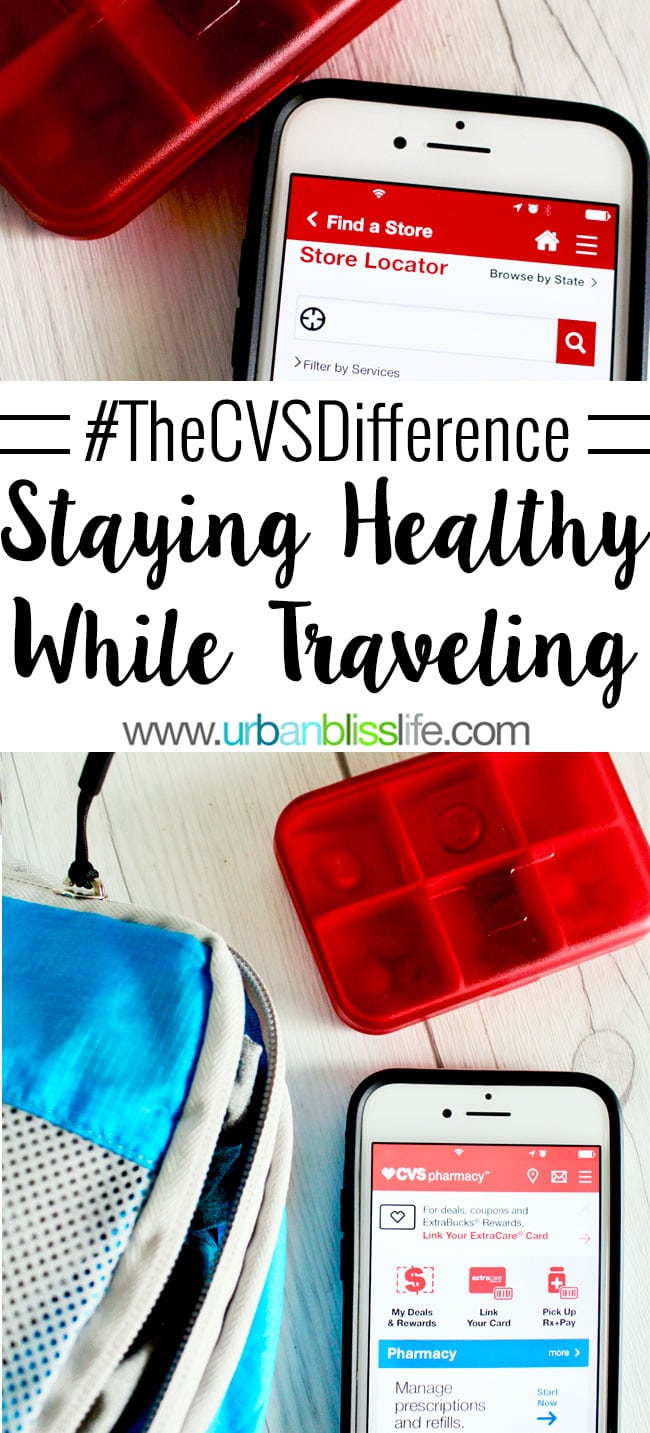 CVS Pharmacy makes it easy to stay healthy while traveling! Read more tips for staying healthy while traveling on UrbanBlissLife.com.