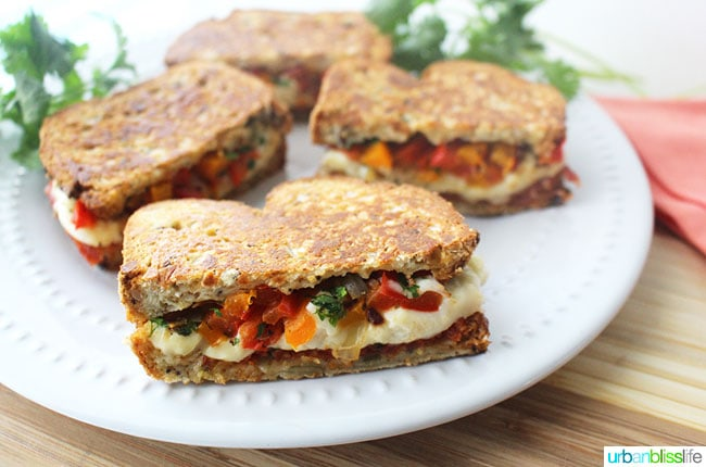 Chorizo Queso Peppers Paninis are hearty, delicious sandwiches perfect for lunch, dinner, or to make to feed a crowd for tailgating, holiday parties, and more! Recipe on UrbanBlissLife.com