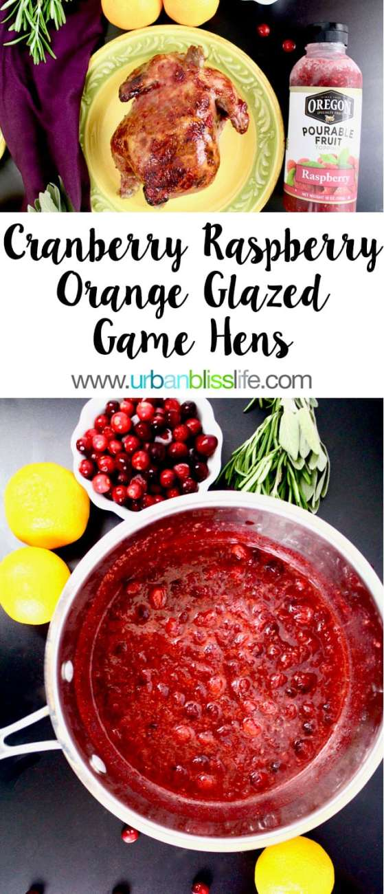 Cranberry Raspberry Orange Glazed Game Hens