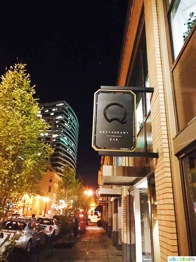 Q Restaurant and Bar in Portland, Oregon Restaurant Review on UrbanBlissLife.com