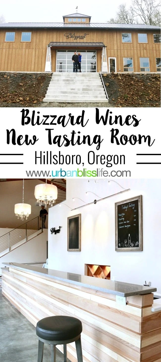 Blizzard Wines builds new tasting room in Hillsboro, Oregon. Preview on UrbanBlissLife.com