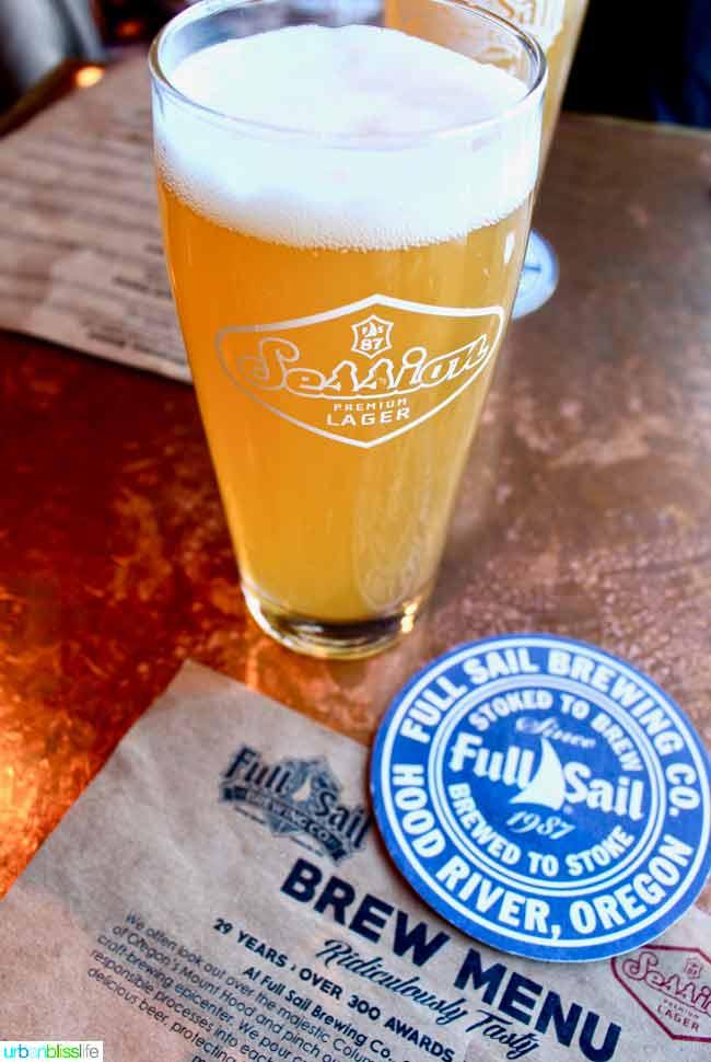 Full Sail Brewery, Hood River Oregon travel tips on UrbanBlissLife.com