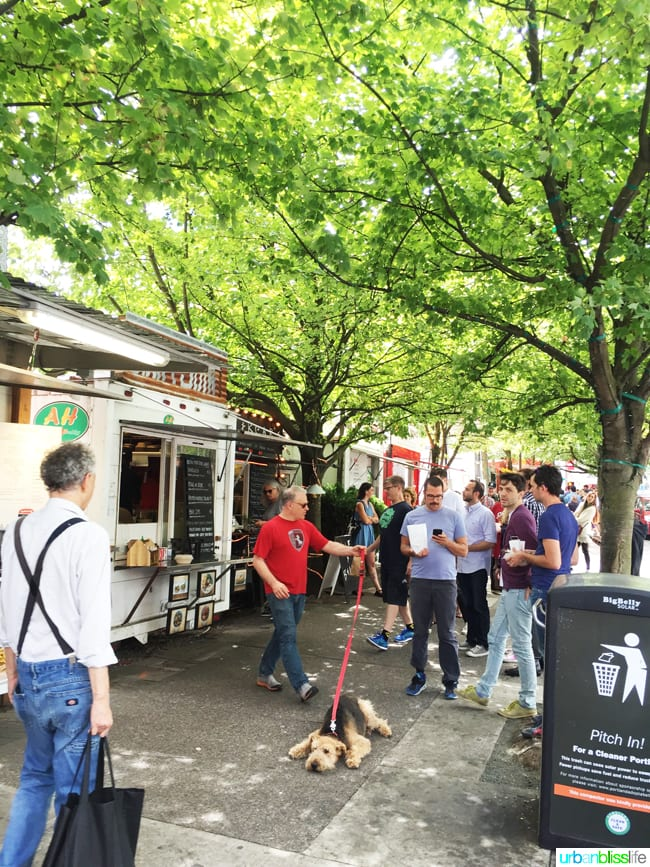 50 Things to Do in Portland, Oregon With Kids During the Summer - Portland Food Cart Pods, travel tips on UrbanBlissLife.com.