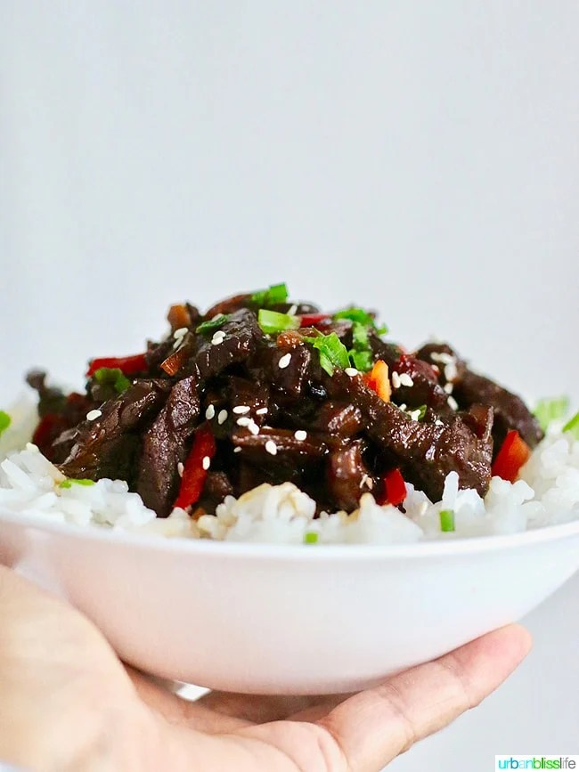 Food Bliss: Slow Cooker Mongolian Beef Recipe