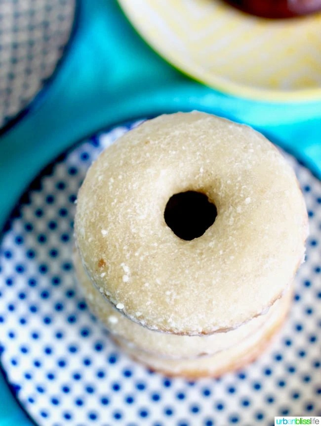 Baked Cinnamon Sugar Donuts with Three Glazes