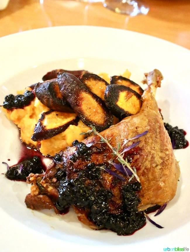 Lark Restaurant duck. Restaurant review on UrbanBlissLife.com