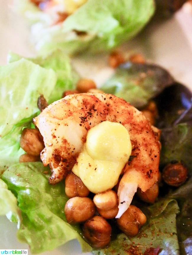 Lark Restaurant shrimp. Restaurant review on UrbanBlissLife.com