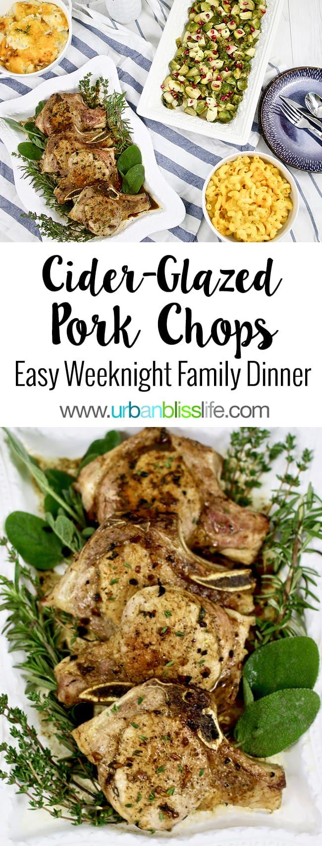Cider-glazed pork chops recipe on UrbanBlissLife.com