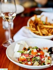 Israeli salad at Ray restaurant, Israeli cuisine in Portland, Oregon. Restaurant review on UrbanBlissLife.com