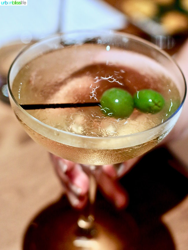 dry martini at Tanner Creek Tavern Portland, Oregonrestaurant review on UrbanBlissLife.com.