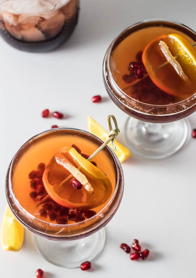Ginger Brandy Cocktail 20 Festive Winter Party Cocktails on UrbanBlissLife.com
