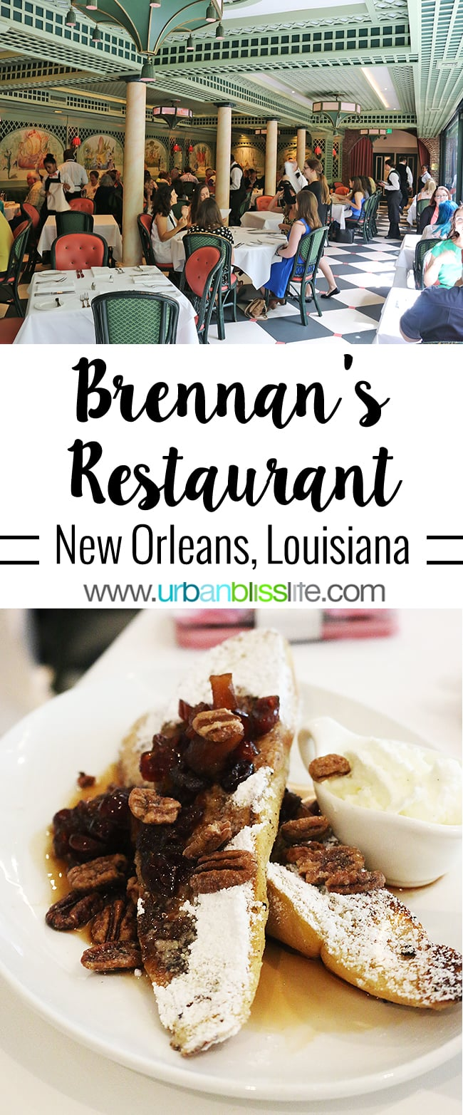 southern charm and Creole cuisine at Brennan's Restaurant in New Orleans, Louisiana. Read this and more travel stories on UrbanBlissLife.com