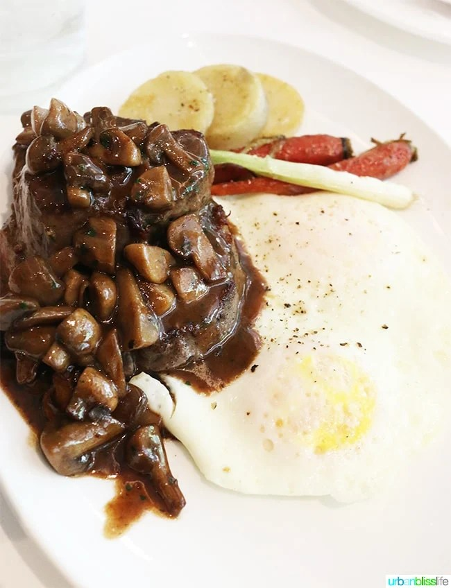 Steak Diane at Brennan's Restaurant, travel stories on UrbanBlissLife.com