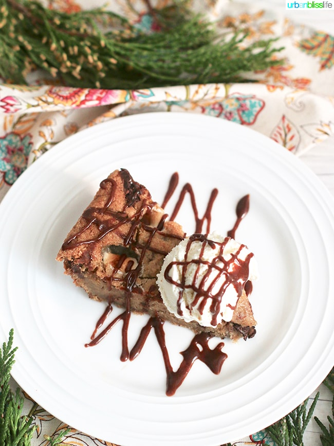 S'mores Skillet Cookie recipe on UrbanBlissLife.com