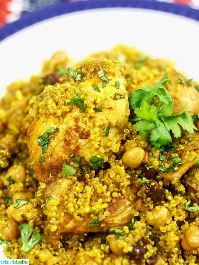 Healthy 30-Minute Instant Pot Moroccan Chicken recipe on UrbanBlissLife.com