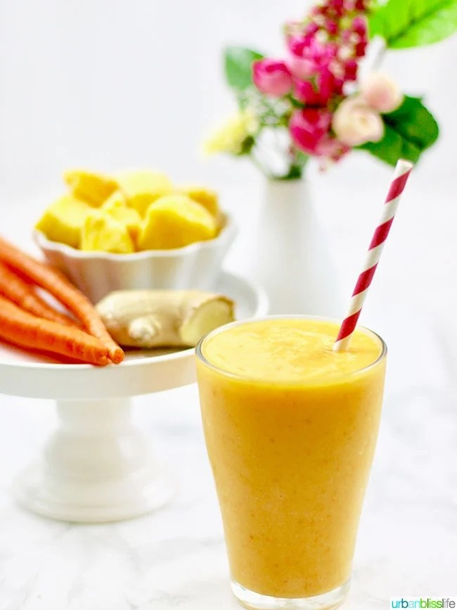 Mango Strawberry Carrot Smoothie